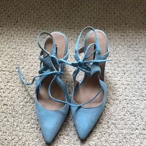 Zara baby blue shoes 7.5